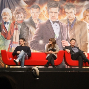 Matt Smith, Steven Moffat and photos from 'Doctor Who' official 50th anniversary celebration
