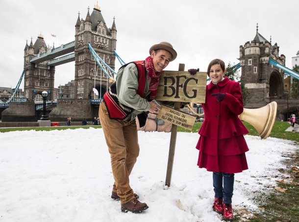 'BFG' Blu-Ray & DVD release photocall, Tower Bridge, London, UK - 21 Nov 2016