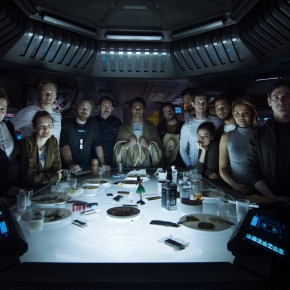 Meet the crew of Alien: Covenant and watch their 'Last Supper'…