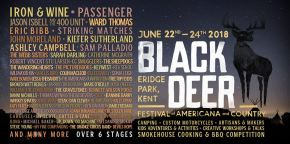 All the info for Black Deer Festival, the UK's new Americana and Country Music Festival, June 22- 24