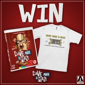 Win 'Dave Made A Maze' on Blu-ray, plus a limited edition t-shirt from designer Takekiyo! **COMPETITION CLOSED**