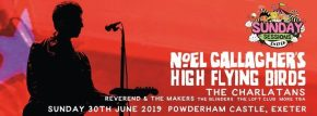 Noel Gallagher's High Flying Birds and The Charlatans to play Sunday Sessions Exeter thisJune!