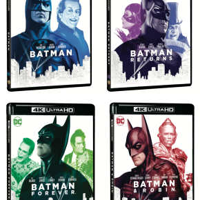 Batman (1989), Batman Returns (1992), Batman Forever (1995) and Batman and Robin (1997) 4K UHD and Blu-ray reviews