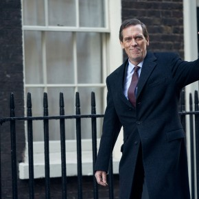 First look at Hugh Laurie in David Hare's new political thriller 'Roadkill', coming to BBC One
