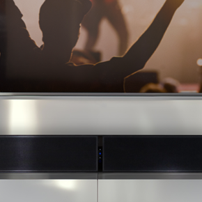 Superb new Pulse Soundbar+ available from Bluesound will make that Home Cinema and Music experience evenbetter