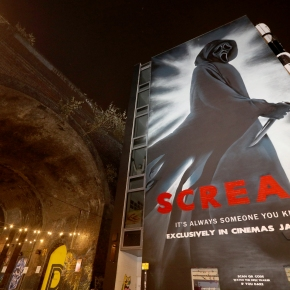 Huge Ghostface mural revealed in Birmingham to celebrate the upcoming cinematic release ofScream
